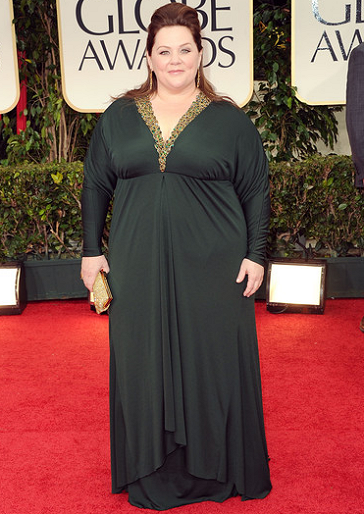 Melissa McCarthy in Badgley Mischka | 69th Annual Golden Globe Awards