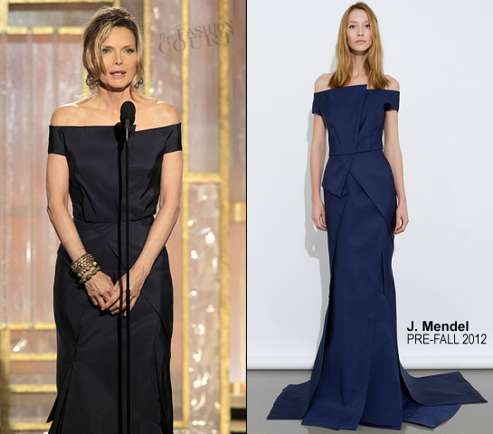 Michelle Pfeiffer in J. Mendel | 69th Annual Golden Globe Awards