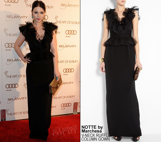 Michelle Trachtenberg in Notte by Marchesa | The Art Of Elysium's 5th Annual Heaven Gala