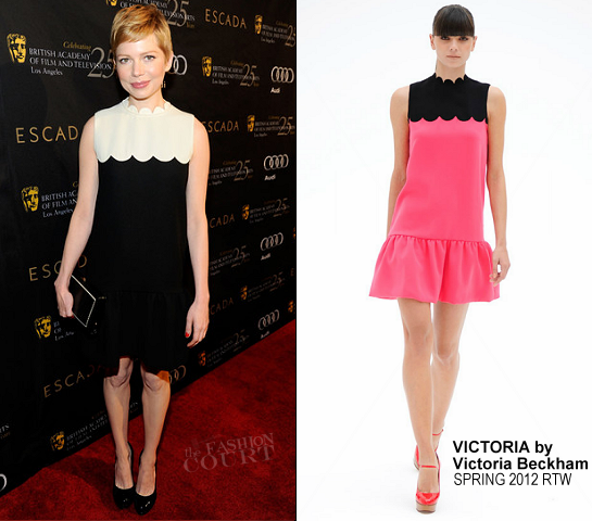 Michelle Williams in Victoria by Victoria Beckham | BAFTA Los Angeles' 18th Annual Awards Season Tea Party
