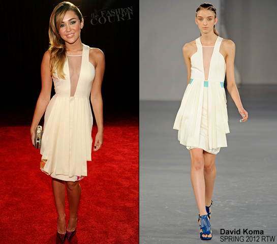 Miley Cyrus in David Koma | 2012 People's Choice Awards