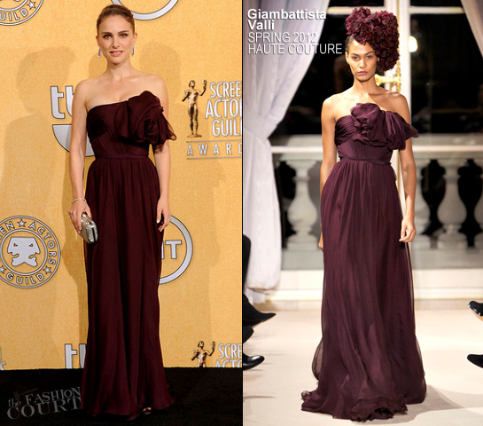 Natalie Portman in Giambattista Valli Couture | 2012 Screen Actors Guild Awards
