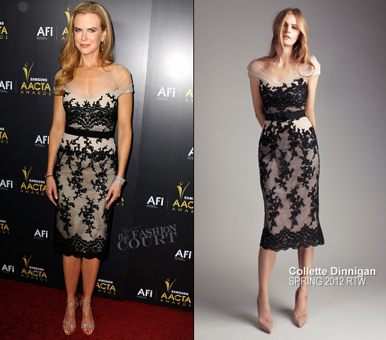 Nicole Kidman in Collette Dinnigan | Australian Academy Of Cinema And Television Arts' 1st Annual Awards