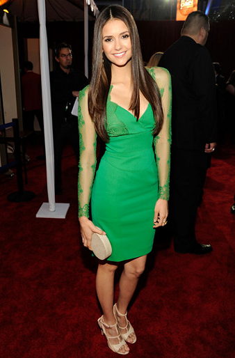 Nina Dobrev in Elie Saab | 2012 People's Choice Awards