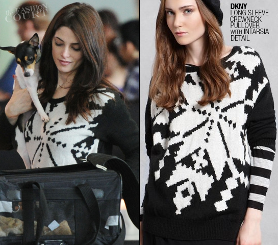 Ashley Greene in DKNY at JFK Airport!