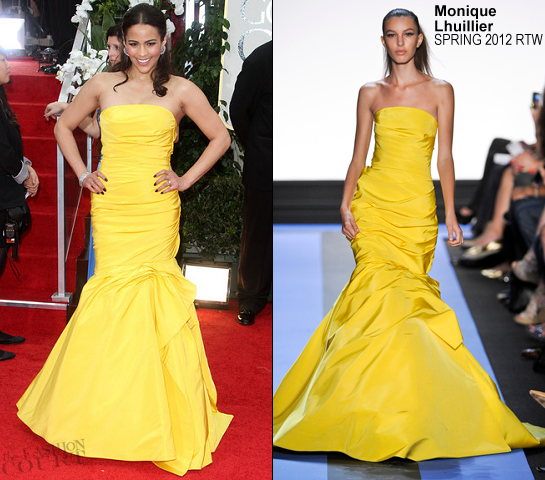 Paula Patton in Monique Lhuillier | 69th Annual Golden Globe Awards