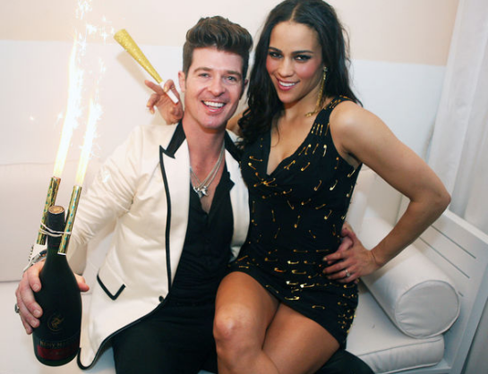 Robin Thicke & Paula Patton | Sean 'Diddy' Combs Hosts CIROC The New Year 2012