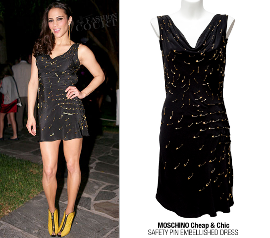 Paula Patton in Moschino Cheap & Chic | Sean 'Diddy' Combs Hosts CIROC The New Year 2012