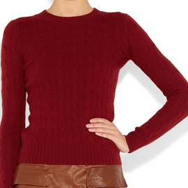 Ralph Lauren Black Label Cable-Knit Cashmere Sweater