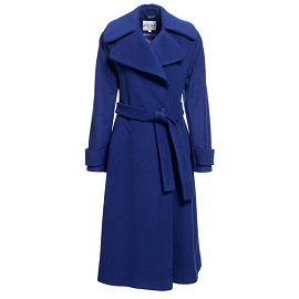 REISS 'Lilac' Sapphire Belted Raglan Sleeve Coat