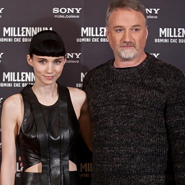 Rooney Mara & David Fincher | 'The Girl with the Dragon Tattoo' Rome Photocall