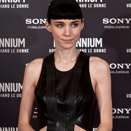 Rooney Mara in Dion Lee | 'The Girl with the Dragon Tattoo' Rome Photocall