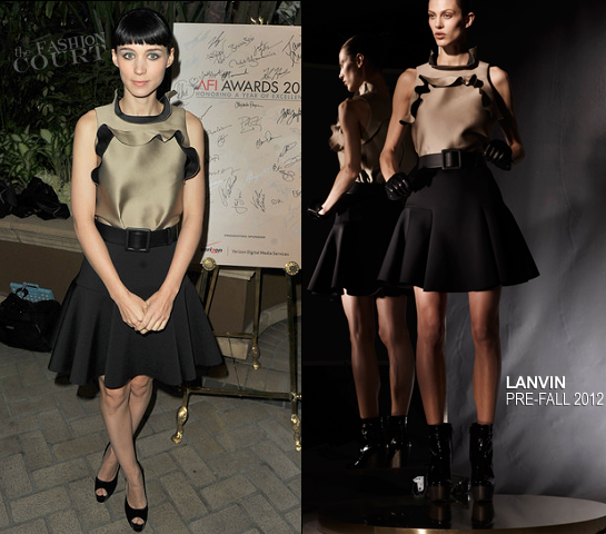 Rooney Mara in Lanvin | 12th Annual AFI Awards