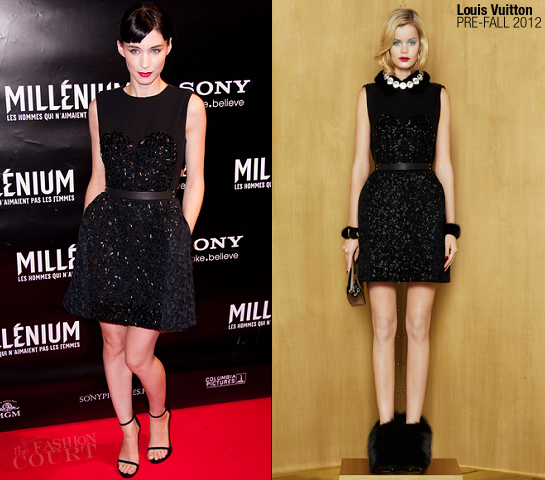 Rooney Mara in Louis Vuitton | 'The Girl with the Dragon Tattoo' Paris Premiere