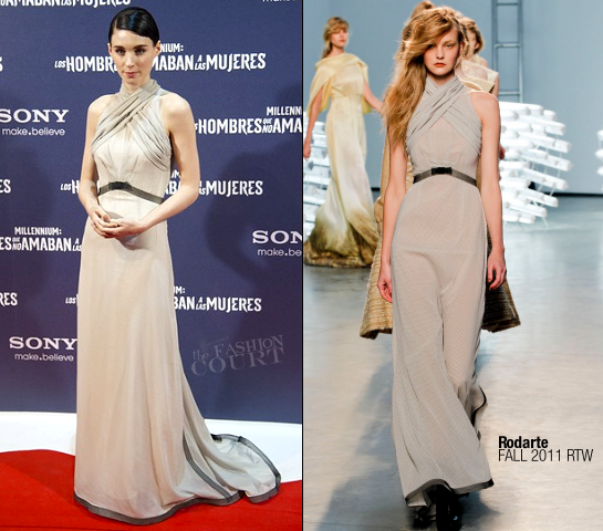 Rooney Mara in Rodarte | 'The Girl With The Dragon Tattoo' Madrid Premiere