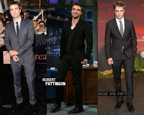 Robert Pattinson in Gucci, Acne & Seize sur Vingt