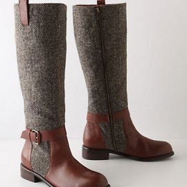 Schuler & Sons for Anthropologie Herringbone Boots