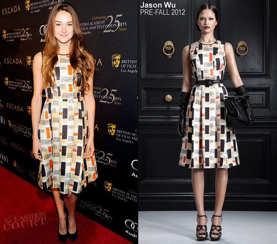 Shailene Woodley in Jason Wu | BAFTA Los Angeles' 18th Annual Awards Season Tea Party