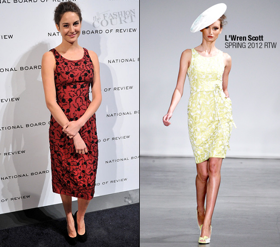 Shailene Woodley in L'Wren Scott | 2011 National Board of Review Awards