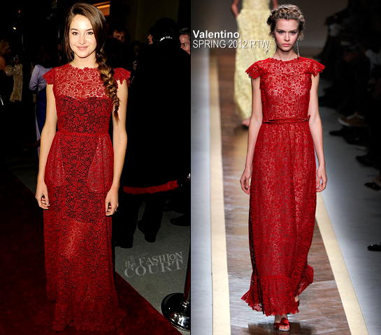 Shailene Woodley in Valentino | 2012 Directors Guild Of America Awards