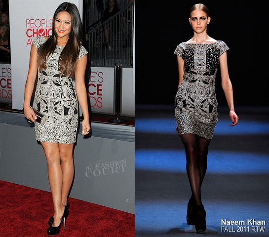 Shay Mitchell in Naeem Khan | 2012 People's Choice Awards