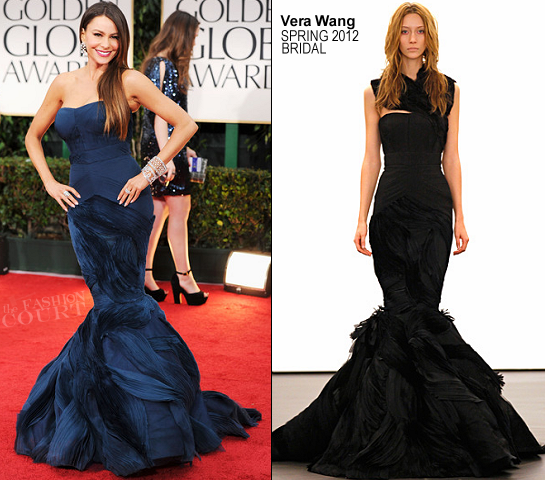 Sofia Vergara in Vera Wang | 69th Annual Golden Globe Awards