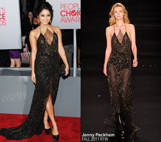 Vanessa Hudgens in Jenny Packham | 2012 People's Choice Awards