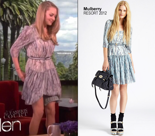 Amanda Seyfried in Mulberry | 'The Ellen Show'