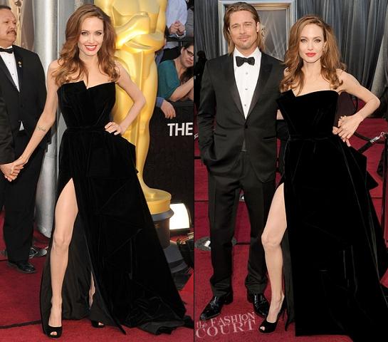 Angelina Jolie in Atelier Versace | 2012 Oscars