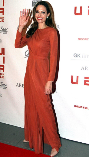 Angelina Jolie in J. Mendel | 'In the Land of Blood and Honey' Croatia Premiere
