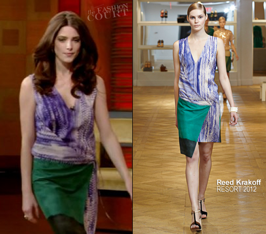 Ashley Greene in Reed Krakoff | 'Live with Kelly'