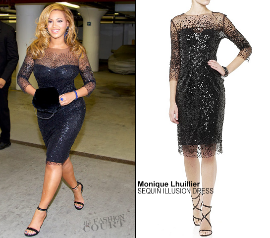 Beyoncé Knowles in Monique Lhuillier | Jay-Z's Second Concert at Carnegie Hall