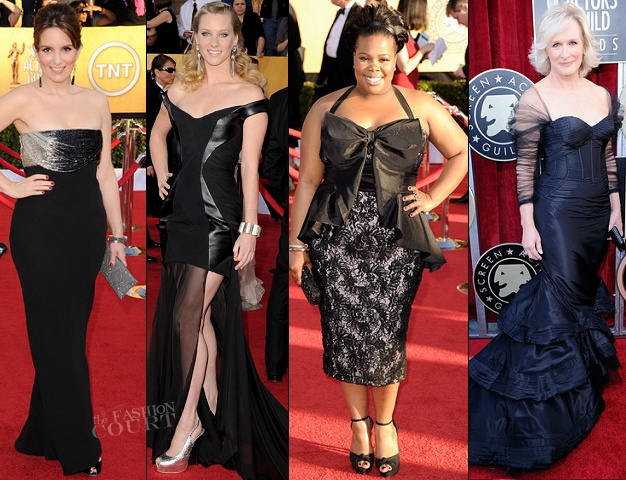 2012 Red Carpet: What's Black and White and Red All Over?