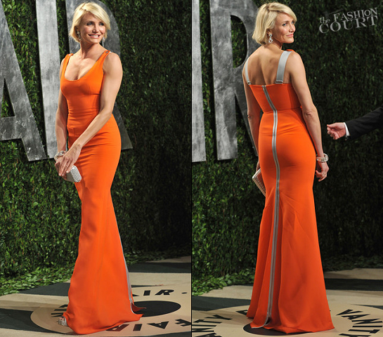 Cameron Diaz in Victoria Beckham | 2012 Vanity Fair Oscar Party
