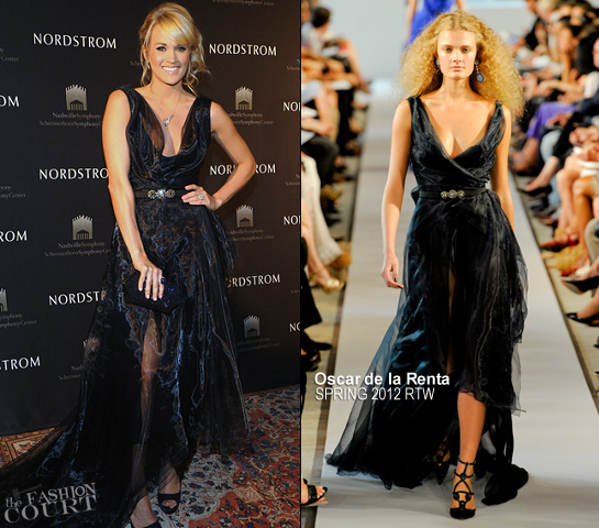 Carrie Underwood in Oscar de la Renta | Nordstrom Symphony Fashion Show