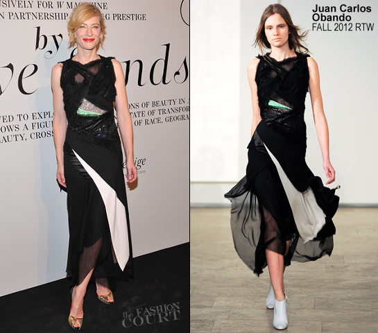 Cate Blanchett in Juan Carlos Obando | 'The Ever Changing Face Of Beauty' Reception