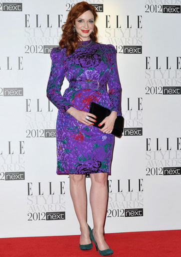Christina Hendricks in Carolina Herrera | 2012 ELLE Style Awards