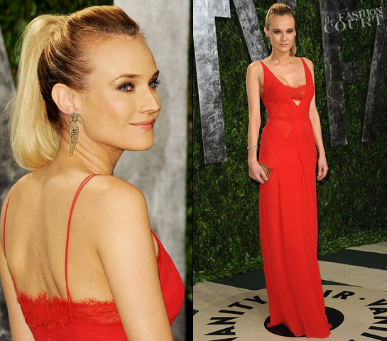 Diane Kruger in Calvin Klein Collection | 2012 Vanity Fair Oscar Party