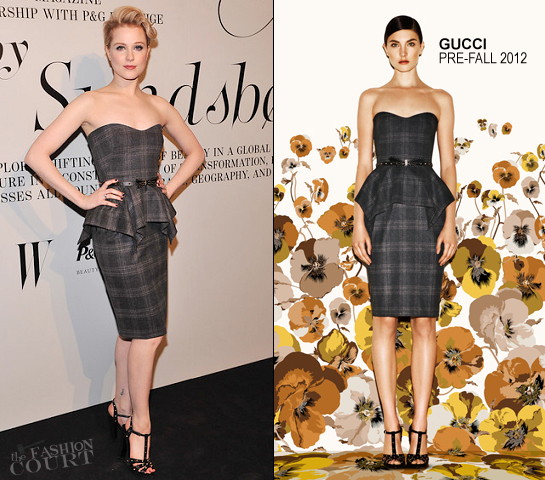 Evan Rachel Wood in Gucci | 'The Ever Changing Face Of Beauty' Reception