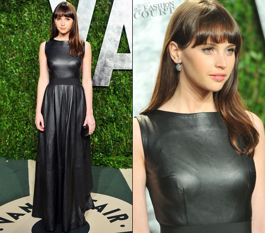 Felicity Jones in Johanna Johnson | 2012 Vanity Fair Oscar Party