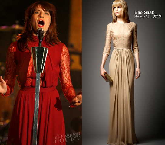 Florence Welch in Elie Saab | Florence + The Machine Perform in Netherlands