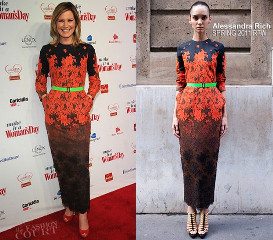 Jennifer Nettles in Alessandra Rich | 2012 'Woman's Day' Red Dress Awards
