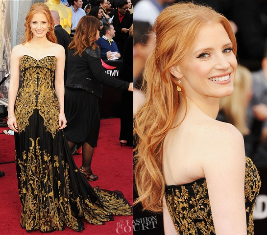 Jessica Chastain in Alexander McQueen | 2012 Oscars