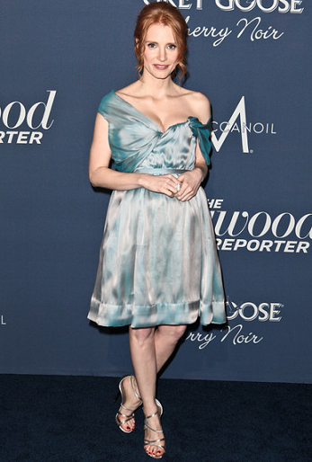Jessica Chastain in Vivienne Westwood | The Hollywood Reporter's 'Nominees' Night 2012'