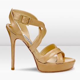 Jimmy Choo VAMP Patent Platform Sandals
