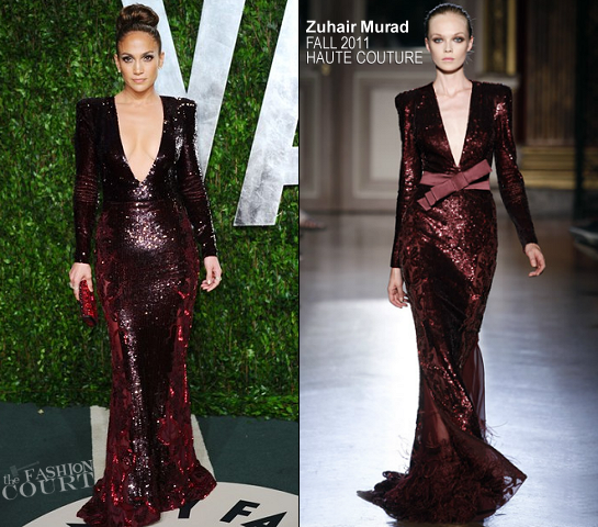 Jennifer Lopez in Zuhair Murad Couture | 2012 Vanity Fair Oscar Party