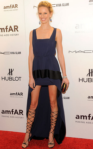 Karolina Kurkova in Vionnet | amfAR New York Gala To Kick Off Fall 2012 Fashion Week