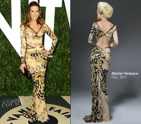 Kate Beckinsale in Atelier Versace | 2012 Vanity Fair Oscar Party