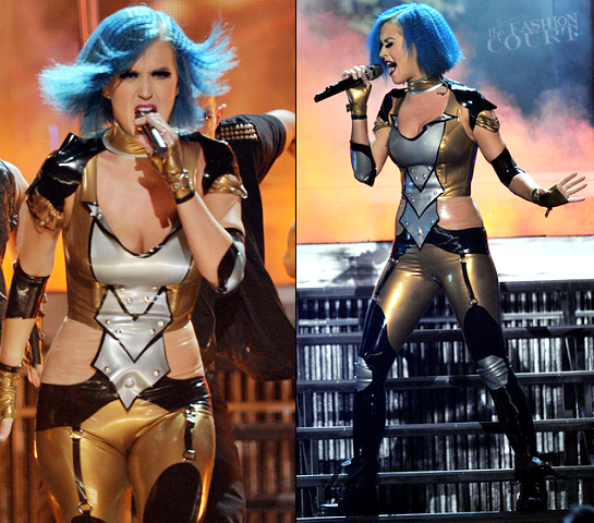 Katy Perry in Abigail Greydanus | 2012 GRAMMY Awards