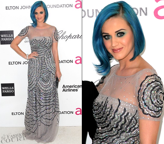 Katy Perry in Blumarine | 2012 Elton John AIDS Foundation's Oscar Viewing Party